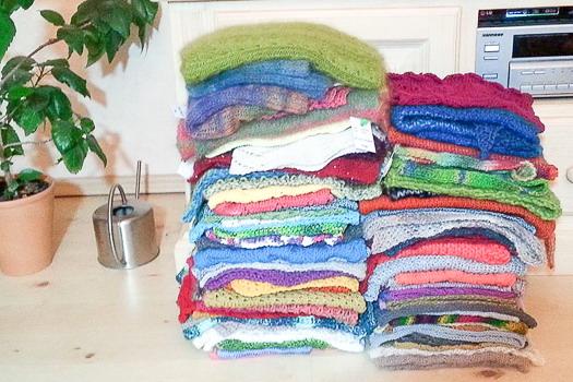 Wolle frisch gewaschen