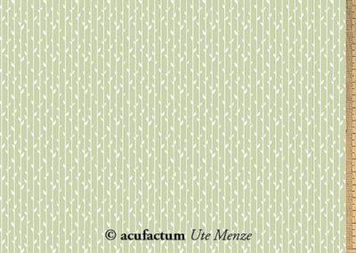 acufactum Baumwolle Blätterstreifen grün