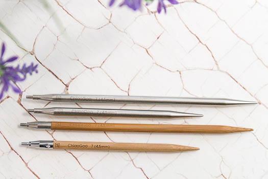 ChiaoGoo Nadelspitzen Bambus und Metall lang und kurz
