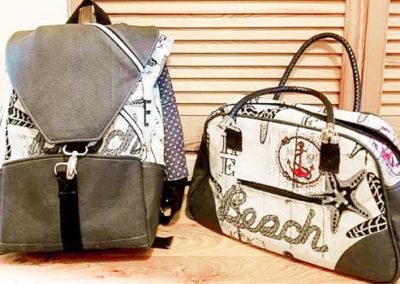 Taschenset Rucksack und Handtasche
