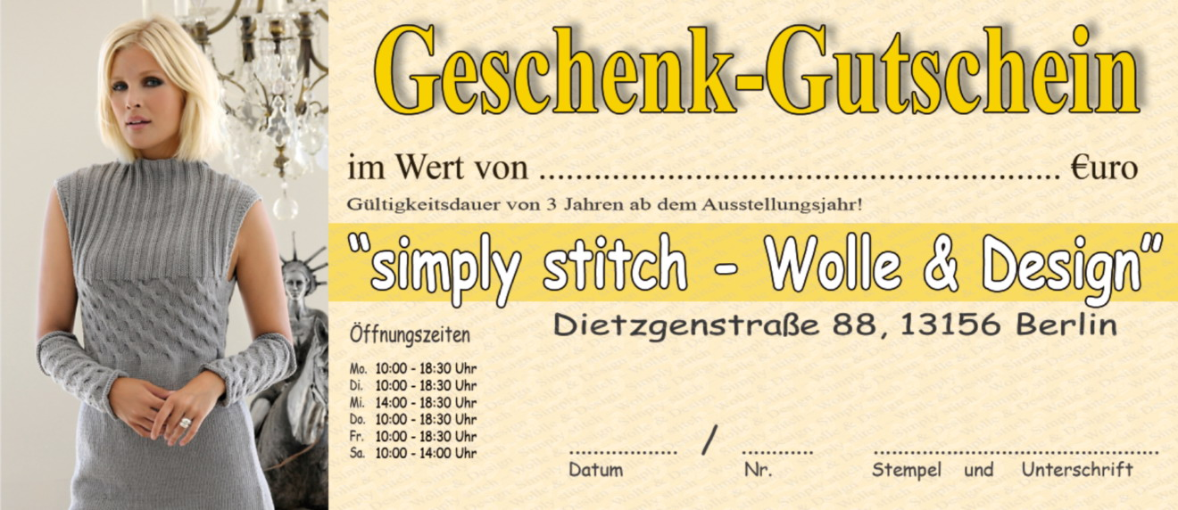 Gutschein Simply Stitch