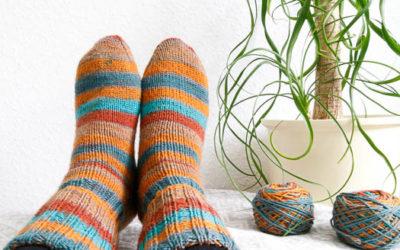 gestrickte Socken aus Mally Socks